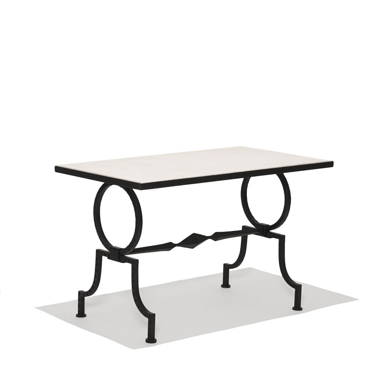 Gallery BAC | Coffee or side table with wrought iron frame and ...