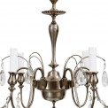Hanging fixture Hallberg C  in silver plate and crystal thumbnail