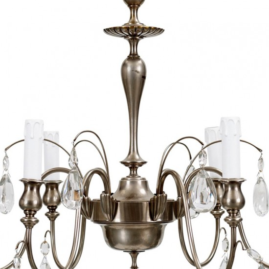 Hanging fixture Hallberg C  in silver plate and crystal