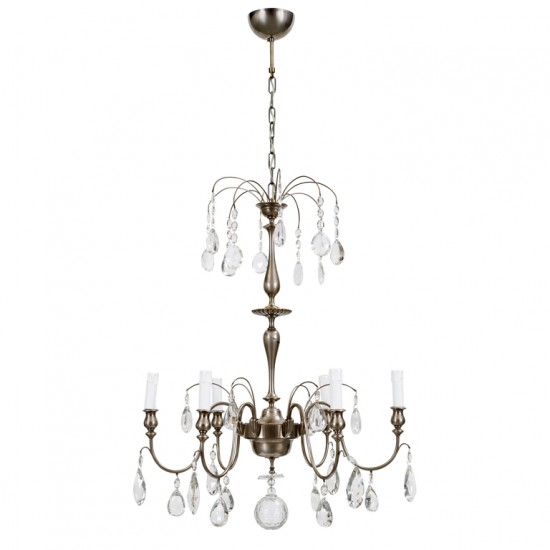 Hanging fixture Hallberg C  in silver plate and crystal_1
