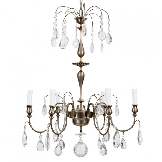 Hanging fixture Hallberg C  in silver plate and crystal_2