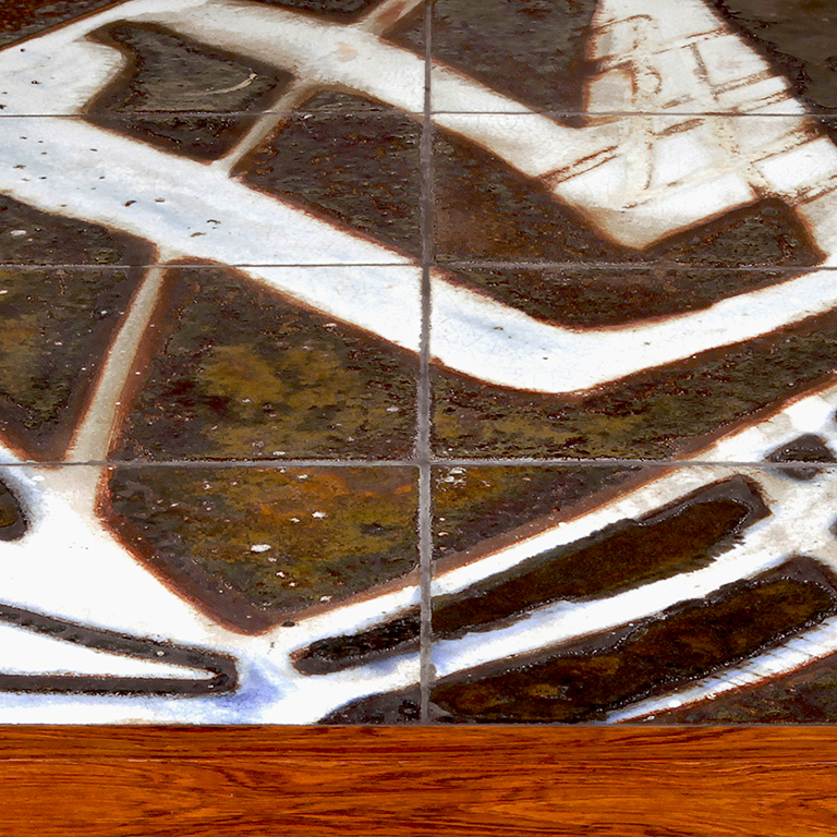 Gallery Bac Coffee Table In Rosewood With Tiles By Ole