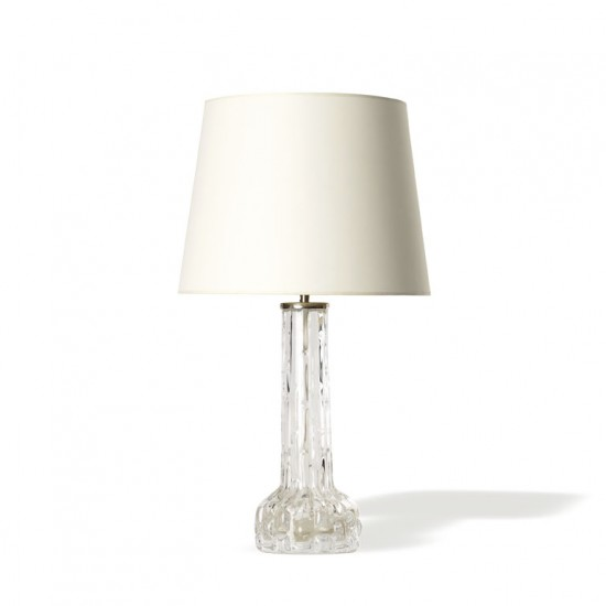 Pair Fagerlund C table lamps Orrefors glass
