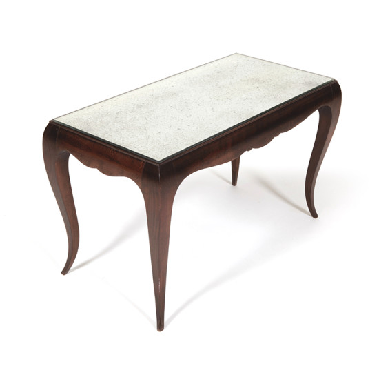 Coffee Table In Mahogany With Mirror Top By