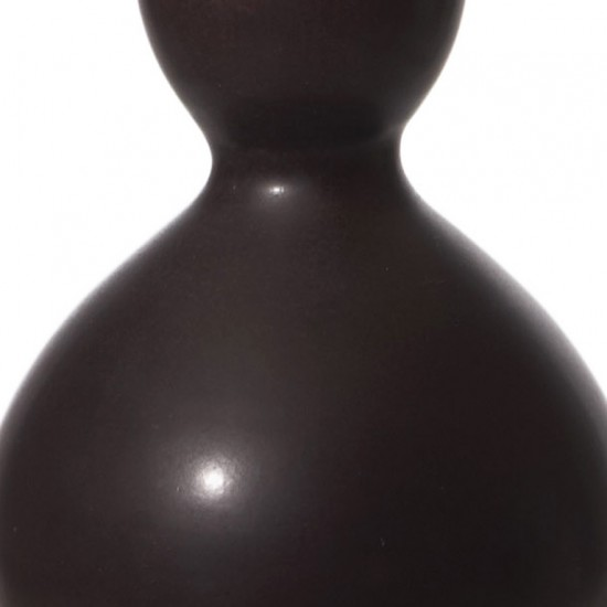 Gallery Bac Table Lamp With Double Gourd Form In Oxblood