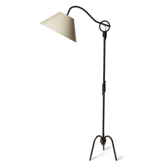 Standing lamp Royere J adjustable arm in iron_1