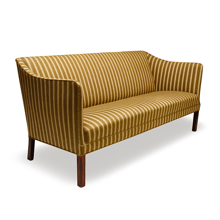 Gallery Bac Sofa With Rosewood Legs And Worsted Wool