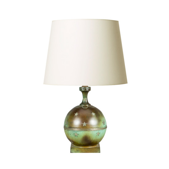 GAB_table_lamp_patinated+globe+on+stand