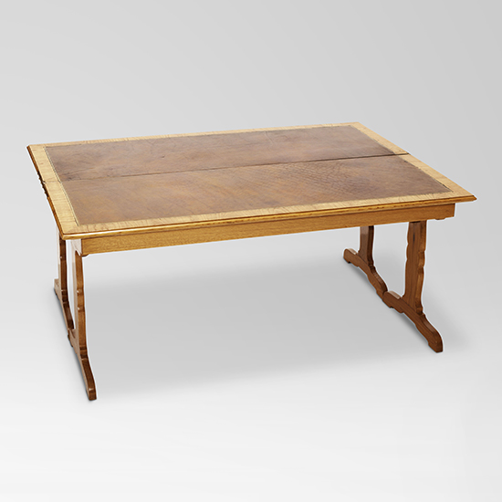 Gallery Bac Flip Top Coffee Table In Oak With Leather Top By Jean Michel Frank