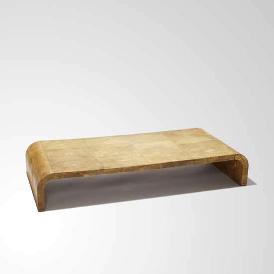 Gallery BAC Low coffee table with inverted U form in shagreen by