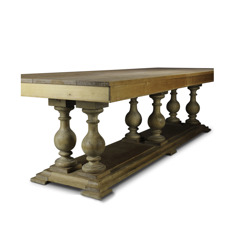 Pine Coffee Table With Turned Legs: Table With Baluster Legs In Oak And Pine By