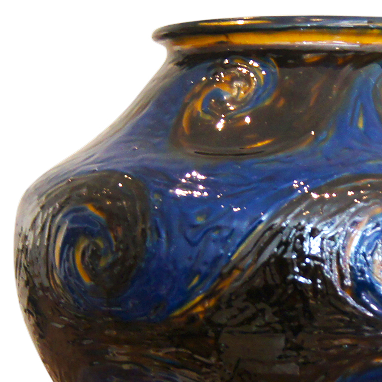 Gallery Bac Extraordinary Monumental Vase With Scrolling Patterns