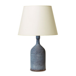 Gallery bac table lamp with tiered form and orange brown harefur - Gallery Bac Collection
