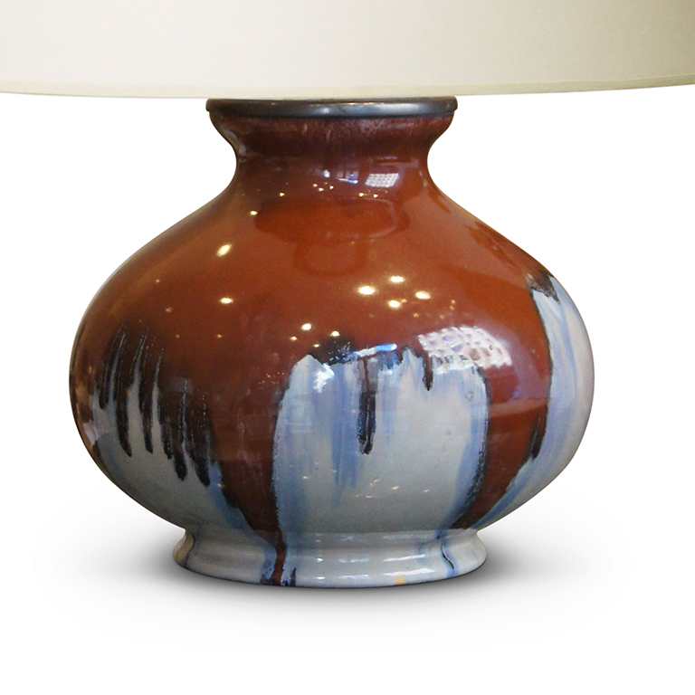 Michaels Craft Floor Lamp: Arts And Crafts Table Lamp With Burnt Umber