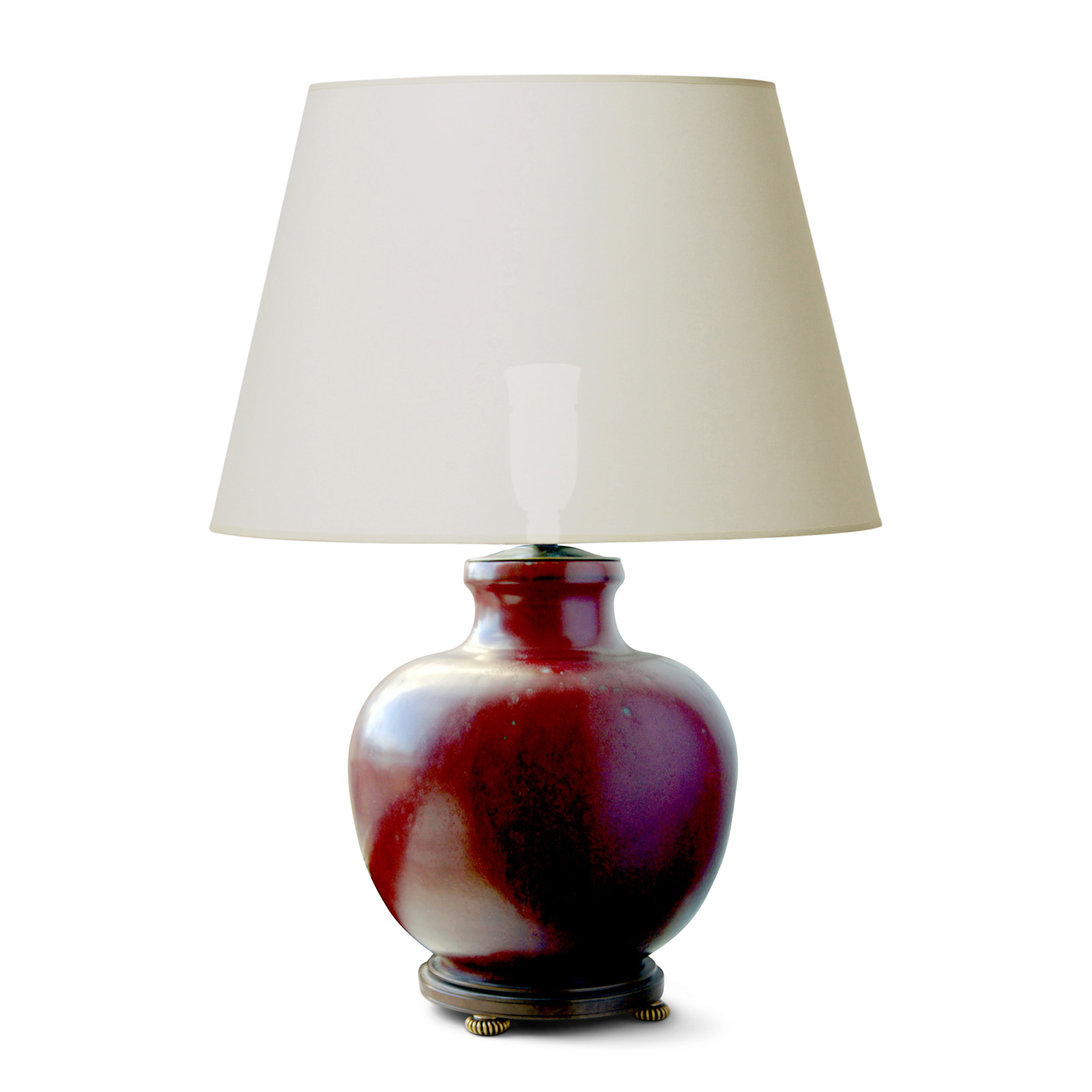 Gallery bac exquisite table lamp in oxblood glaze on bronze stand gallery bac exquisite table lamp in oxblood glaze on bronze stand by carl halier mozeypictures Gallery